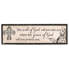 Will of God Canvas Wall Plaque