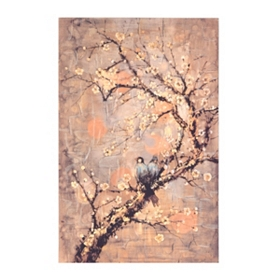 Birds On A Branch Canvas Art Print