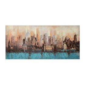 Abstract Cityscape Canvas Art Print