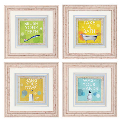 Bathroom Rules Framed Art Print