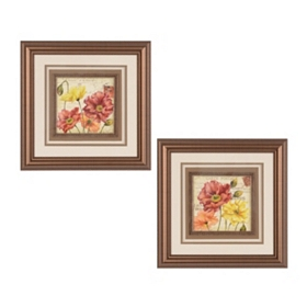 Le Fleur Poppy Framed Art Prints