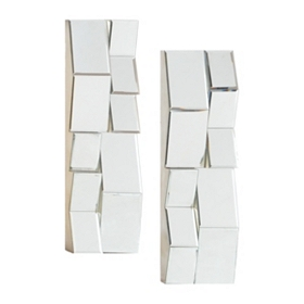 Reflector Mirrored Wall Plaque, Set of 2