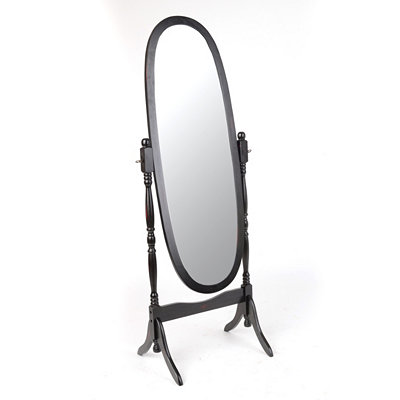 Black Cheval Mirror, 23x60