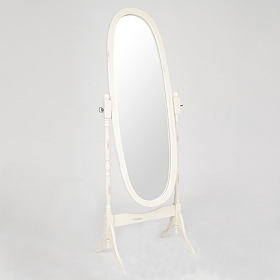 Ivory Cheval Mirror, 23x60