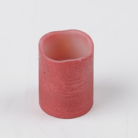 Red Foil LED Flameless Candle, 4 in.
