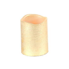 Gold Foil LED Flameless Candle, 4 in.