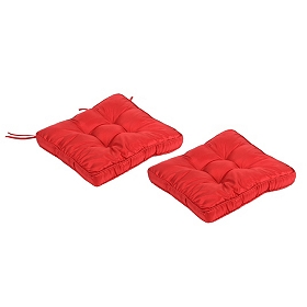 Red Glitz Chair Cushion