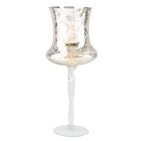 Gold Mercury Glass Stemmed Hurricane