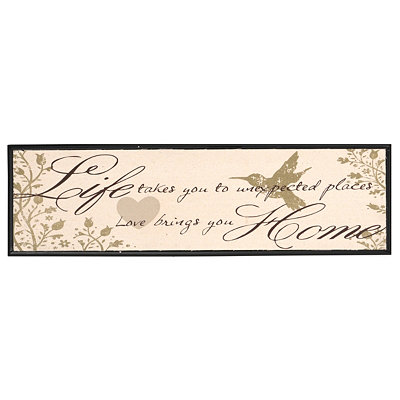Love Brings You Home Canvas Wall Plaque