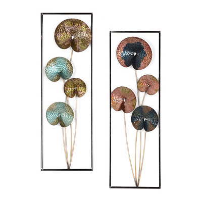 Blooms Metal Wall Plaque, Set of 2