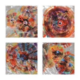 Colorful Makings Metal Wall Plaque, Set of 4