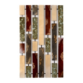 Abstract Plank Metal Wall Plaque