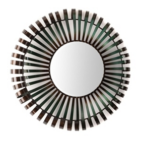 Metal Curls Mirror, 27.75 in.