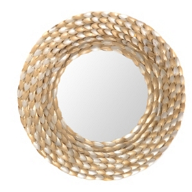 Golden Wreath Mirror, 33 in.