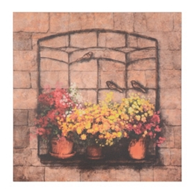 Potted Flowers Canvas Art Print