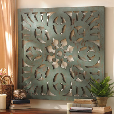 Seafoam Green Pierced Wall Plaque