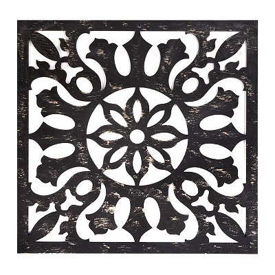 Black Pierced Wall Plaque