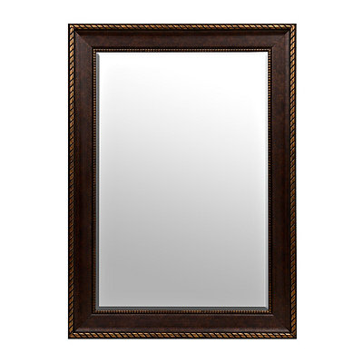 Bronze Matte Framed Mirror, 24x36
