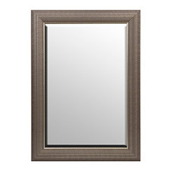 Antique Silver Woven Framed Mirror, 32x44 in.