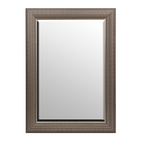 Antique Silver Woven Framed Mirror, 24x36
