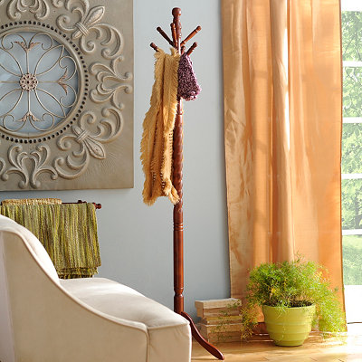 Cherry Spiral Coat Rack