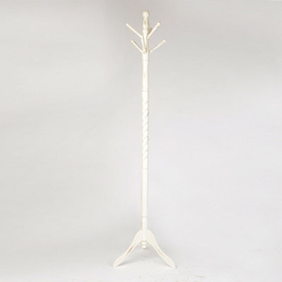 White Spiral Coat Rack