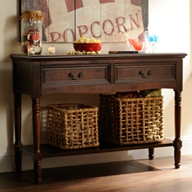 Christine Brown Console Table