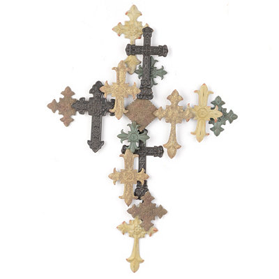 Layered Cross Wall Plaque