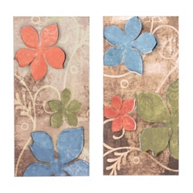 Floratine Metal Wall Plaque, Set of 2