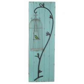 Birdcage Wooden Wall Plaque