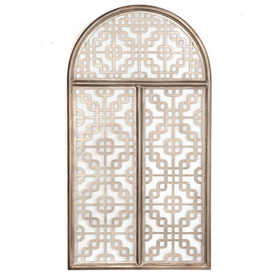 Gold Lattice Wall Plaque