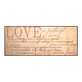 Love Is Patient Wall Plaque