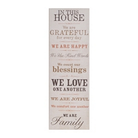 In This House Canvas Art Plaque