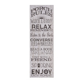 Porch Rules Canvas Art Plaque