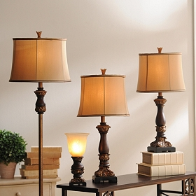 Dark Bronze Helina Lamp Set