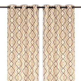 Marrakech Tan Curtain Panel, 84 in.