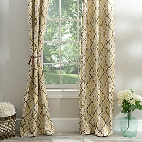Marrakech Tan Curtain Panel Set, 84 in.