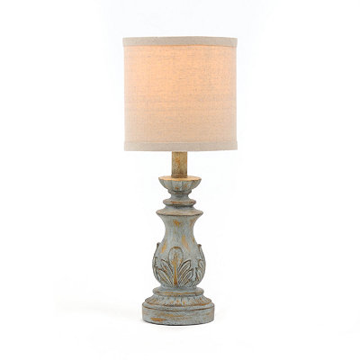 Antiqued Blue Table Lamp