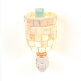 Capiz Mosaic Tile Tart Burner Night Light