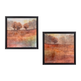 Sienna Landscape Framed Canvas Prints, Set of 2