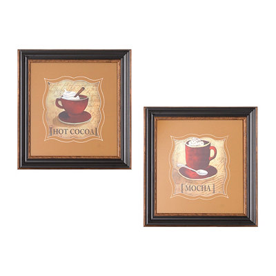 Warm Brews Framed Art Print, Set of 2