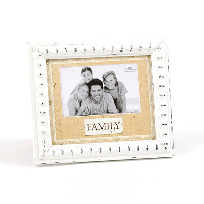Cream Lace Family Photo Frame, 4x6