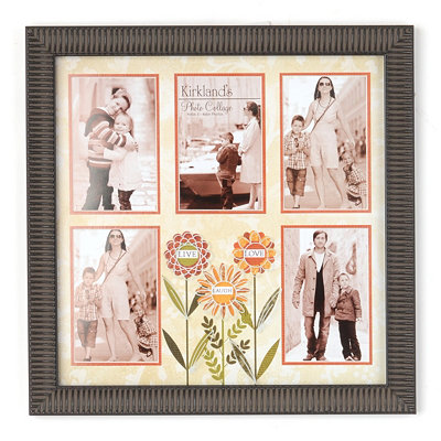 Floral Live, Laugh, Love Collage Frame