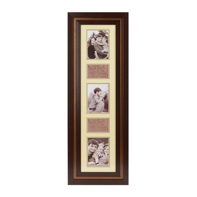 Walnut 5-Opening Collage Frame