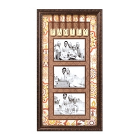 Spice Medallion Family Collage Frame