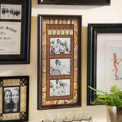 Spice Medallion Family Collage Frame