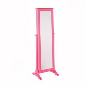 Hot Pink Cheval Armoire Mirror