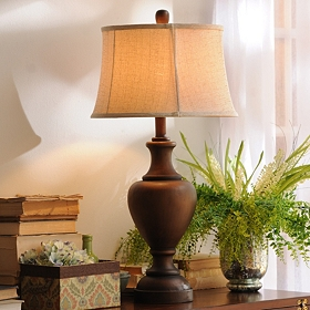 Textured Bronze Table Lamp