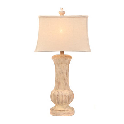 Cream Pourpoint Table Lamp