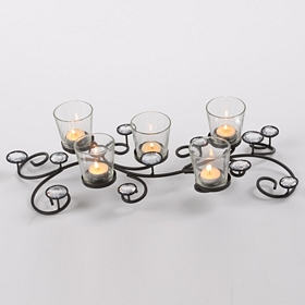 Bling Scrolled Candle Runner